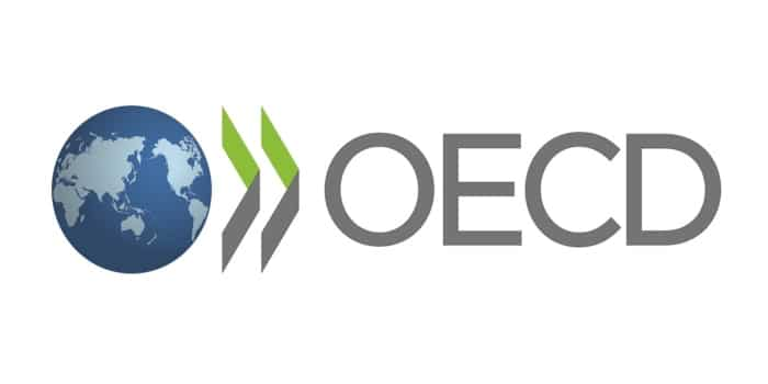 OECD branding with a globe and sign.